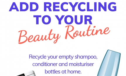 Don't forget to recycle from the bathroom!
